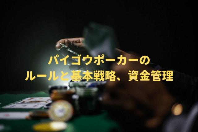 パイゴウポーカーのルールと基本戦略、資金管理