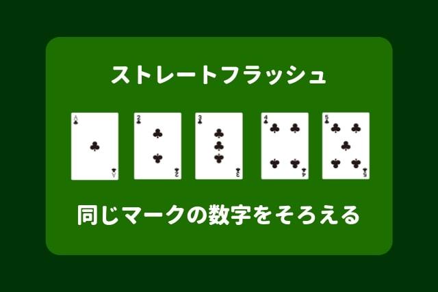 ポーカー 役 ストレートフラッシュ