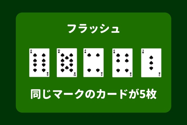 ポーカー 役 フラッシュ
