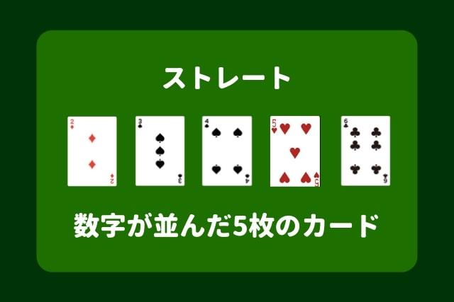 ポーカー 役 ストレート