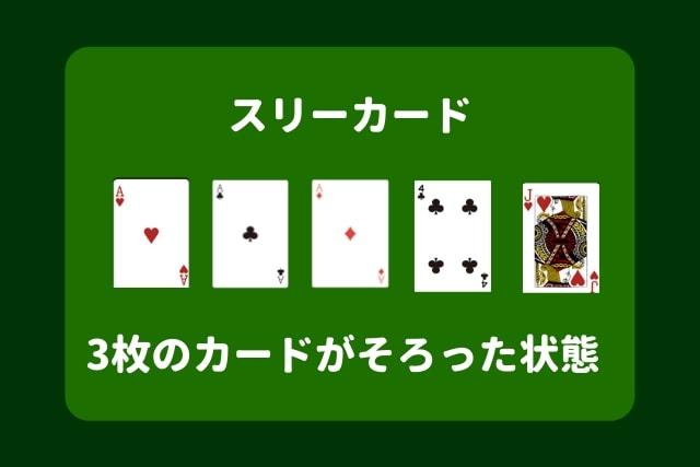 ポーカー 役 スリーカード