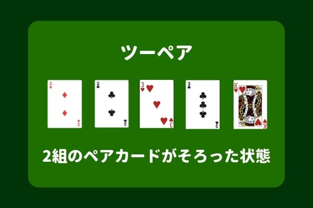 ポーカー 役 ツーペア