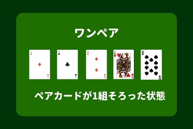 ポーカー 役 ワンペア