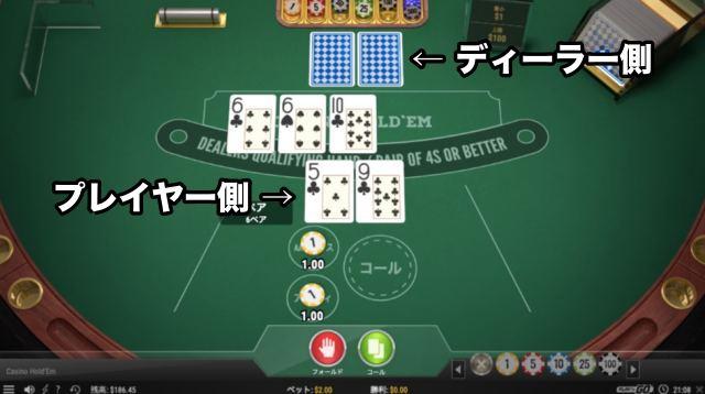 カジノホールデムポーカー テーブル図