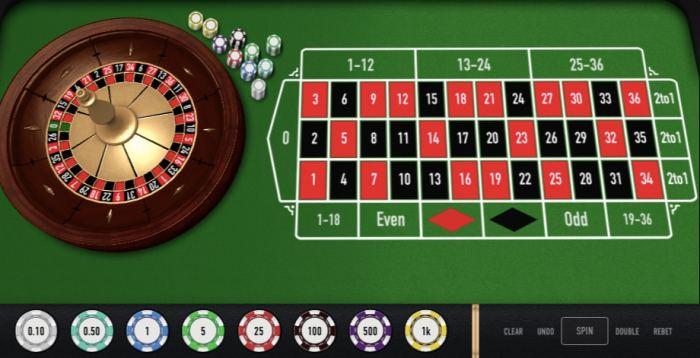 オンラインカジノ ルーレット ゲーム画面