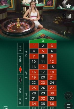 オンラインカジノ スマホ ルーレット画面