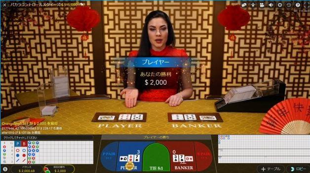 エンパイアカジノ ノーコミッションバカラ画像