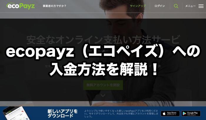 ecopayz(エコペイズ)への入金方法