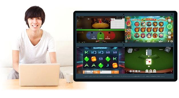 ベットティルト 4ゲーム同時プレイ画面