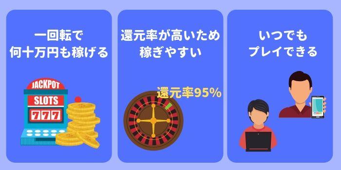 オンラインカジノにハマる理由について