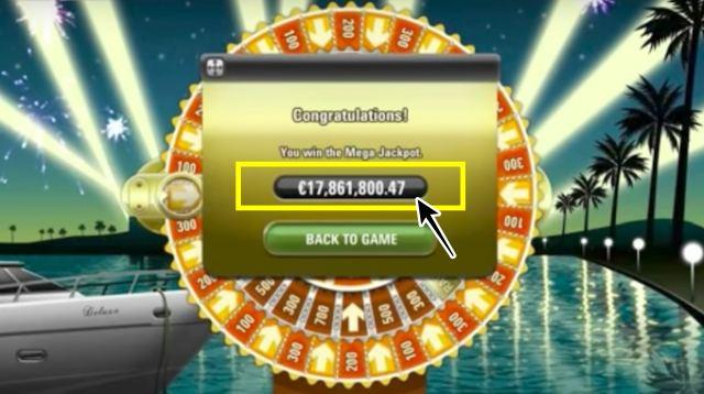 Mega Fortune(メガ・フォーチュン)Slot 画面