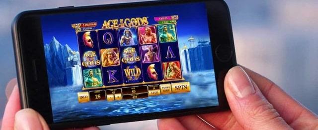 オンラインカジノのスロット画面