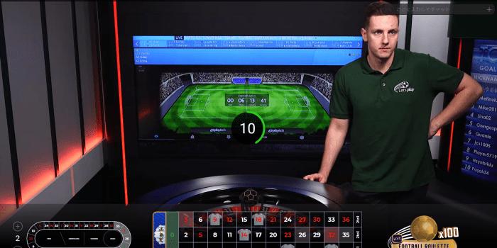 Football Roulette プレイ画面