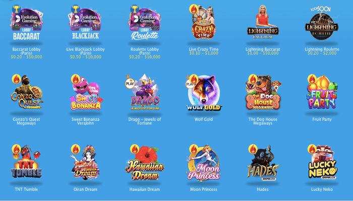 オンラインカジノゲーム種類