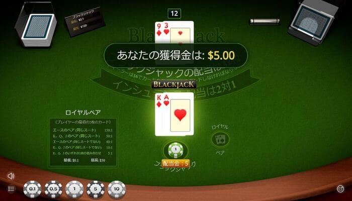 オンラインカジノ ブラックジャック 種類