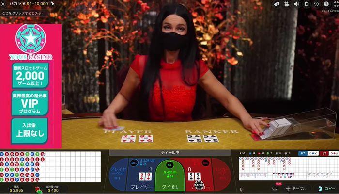 オンラインカジノ システムベッド