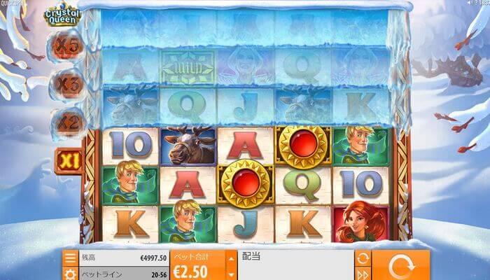 ジパングカジノ クリスタルクイーン プレイ画面