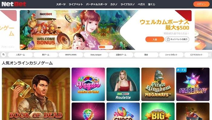 ネットベットカジノ 公式画面