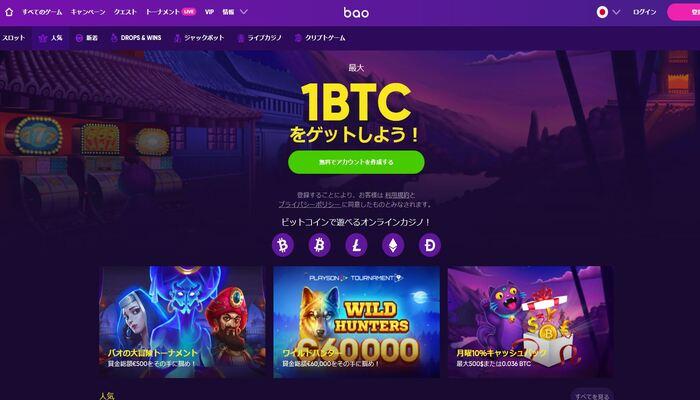 バオカジノ 公式画面