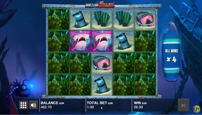 Razor Shark プレイ画面