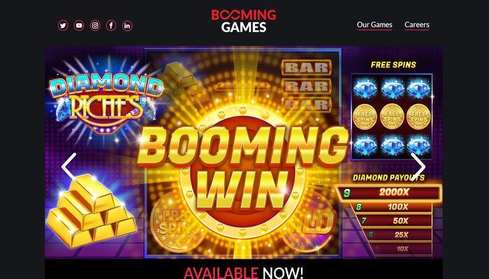 ブーミングゲームス 公式画面