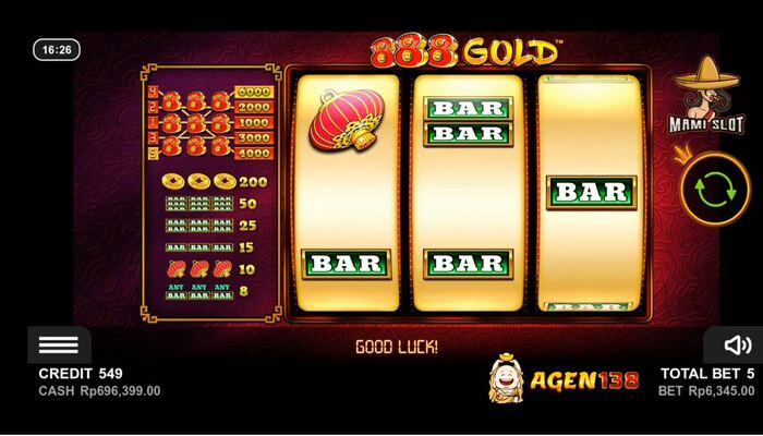 888 Gold プレイ画面
