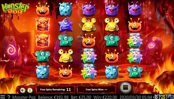 Monster Pop プレイ画面